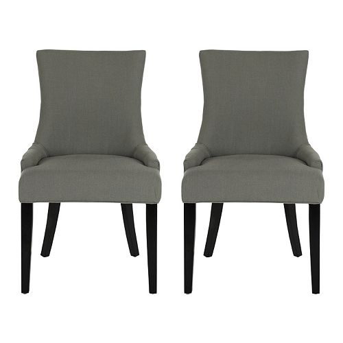 Safavieh Lester 2 Pc Dining Chair Set Grey Price Tracking