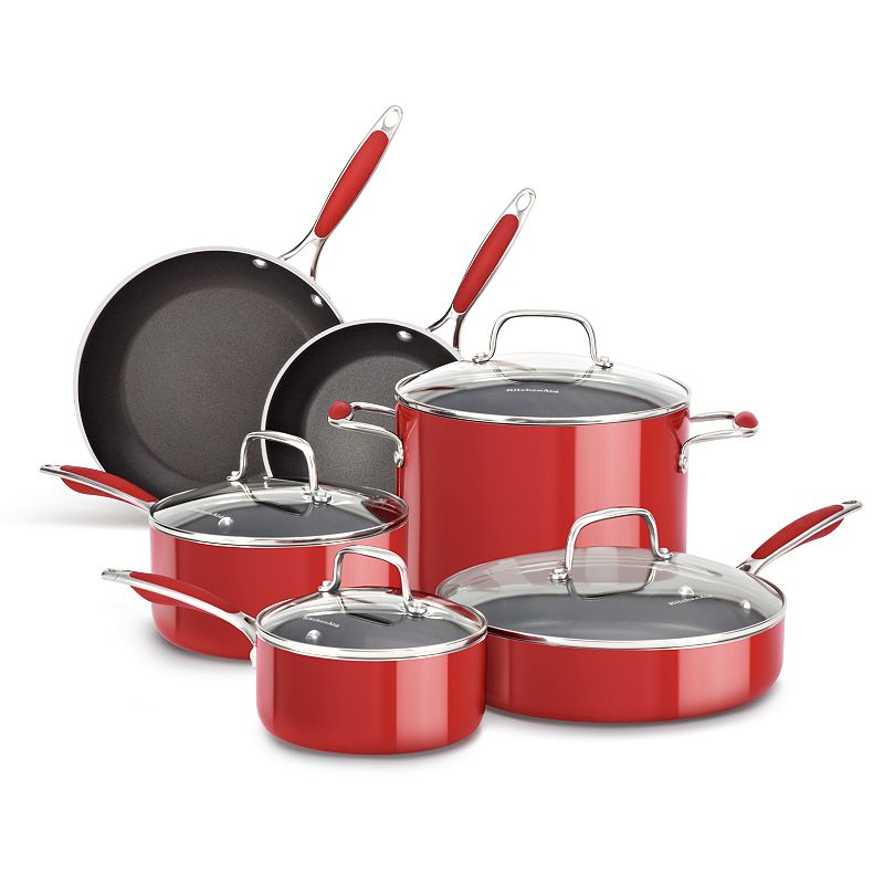KitchenAid KCAS10 10-pc. Nonstick Aluminum Cookware Set
