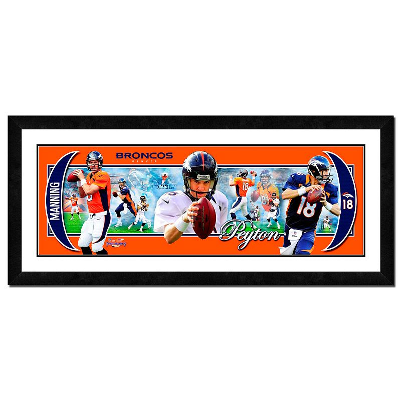 Denver Broncos Peyton Manning Framed Player Photoramic