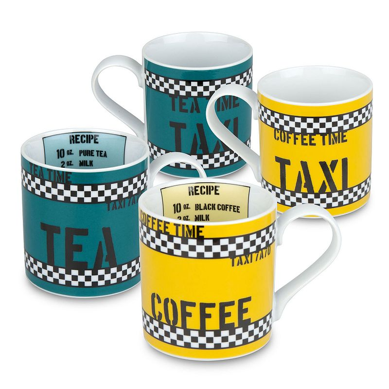 Konitz Tea and Coffee Time 4-pc. Assorted Mug Set