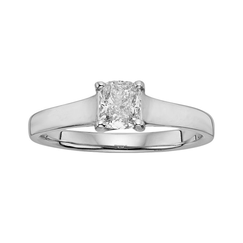 IGL Certified Diamond Solitaire Engagement Ring in 14k White Gold (1/2 ct. T.W.)