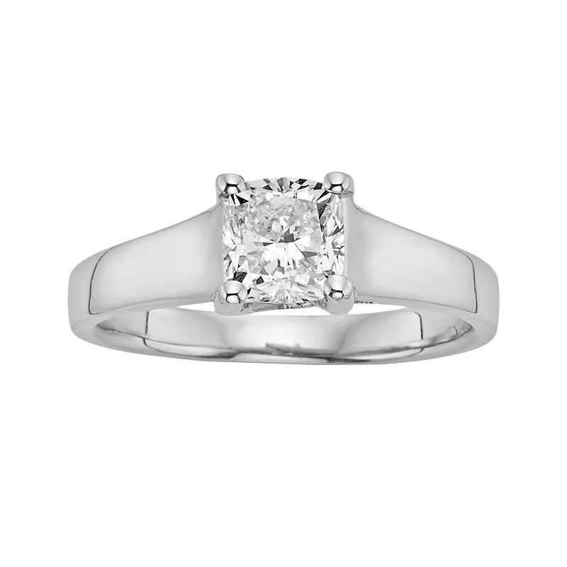 IGL Certified Diamond Solitaire Engagement Ring in 14k White Gold (1 ct. T.W.)