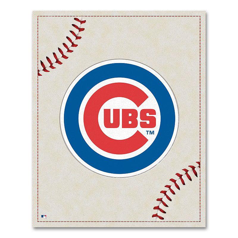 Chicago Cubs Baseball Stitches Canvas Wall Art