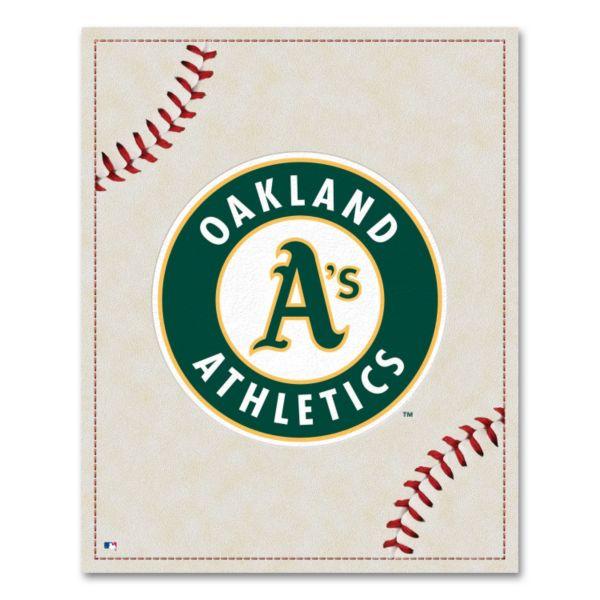 Oakland Athletics Baseball Stitches Canvas Wall Art