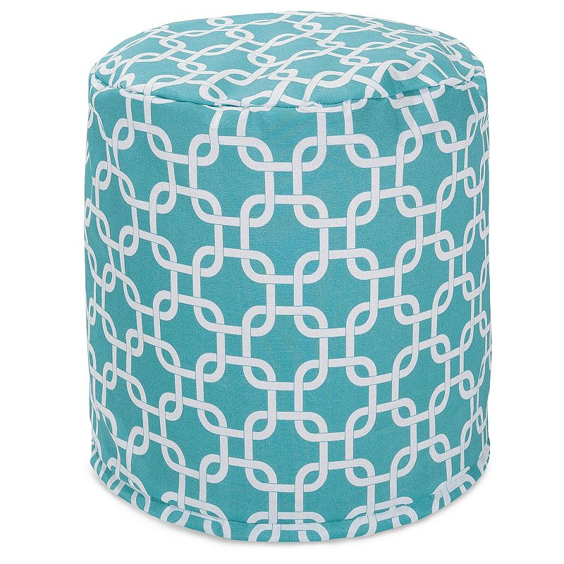 Majestic Home Goods Links Indoor Outdoor Small Pouf Ottoman
