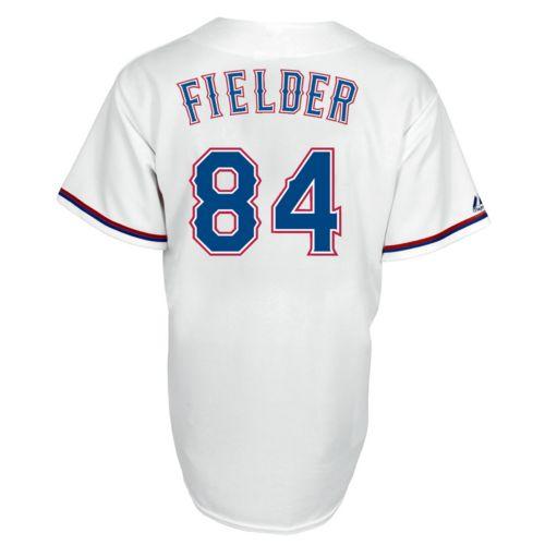 Men's Majestic Texas Rangers Prince Fielder Replica Jersey