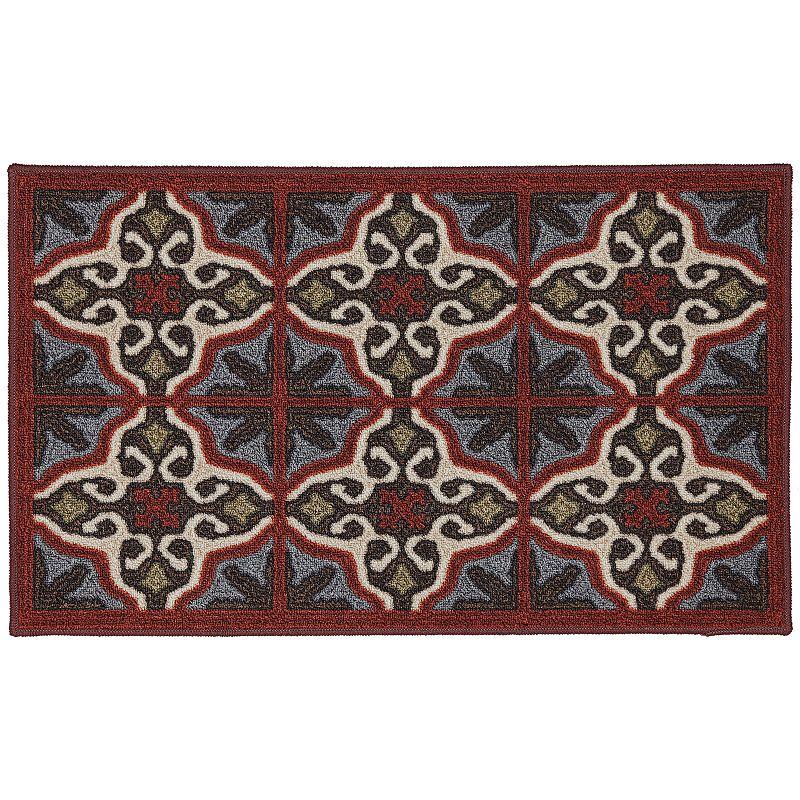 Edenton Crewel Vintage Tile Rug - 20'' x 34''