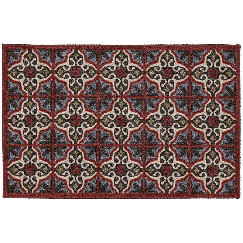 Edenton Crewel Vintage Tile Rug - 30'' x 46''