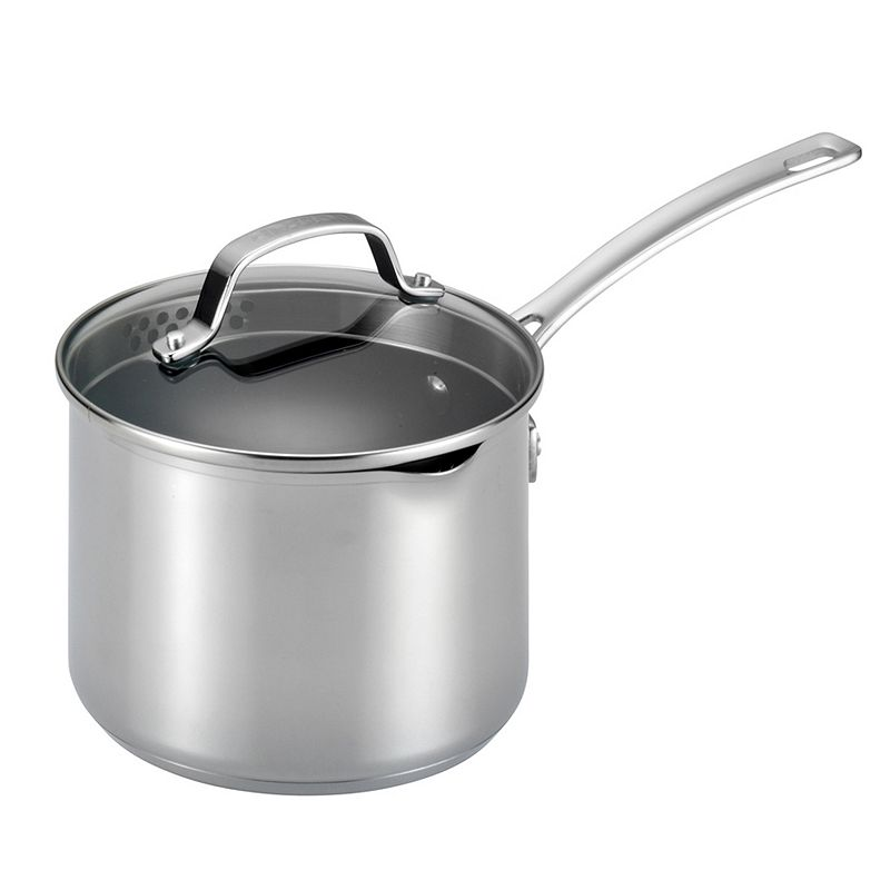 Circulon Genesis 3-qt. Nonstick Stainless Steel Covered Straining Saucepan
