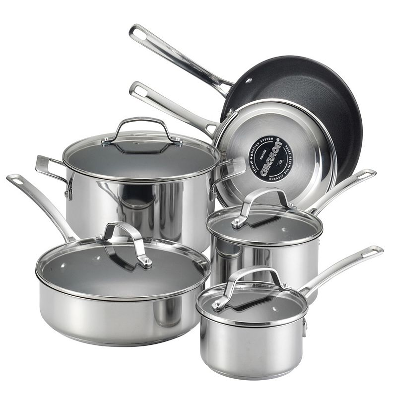 Circulon Genesis 10-pc. Nonstick Stainless Steel Cookware Set