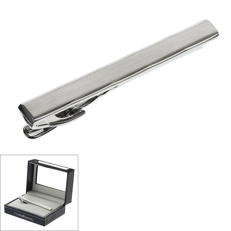 Croft & Barrow® Brushed Rhodium Tie Clip - Men
