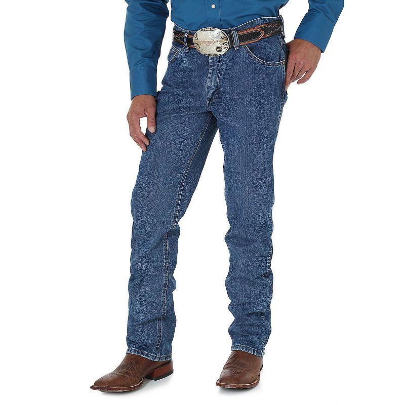 Men's Wrangler Premium Performance Cowboy-Cut Regular-Fit Jeans, Size: 36X30, Blue
