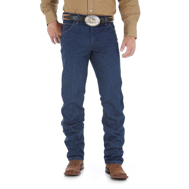 Men's Wrangler Premium Performance Cowboy-Cut Regular-Fit Jeans, Size: 33X34, Blue