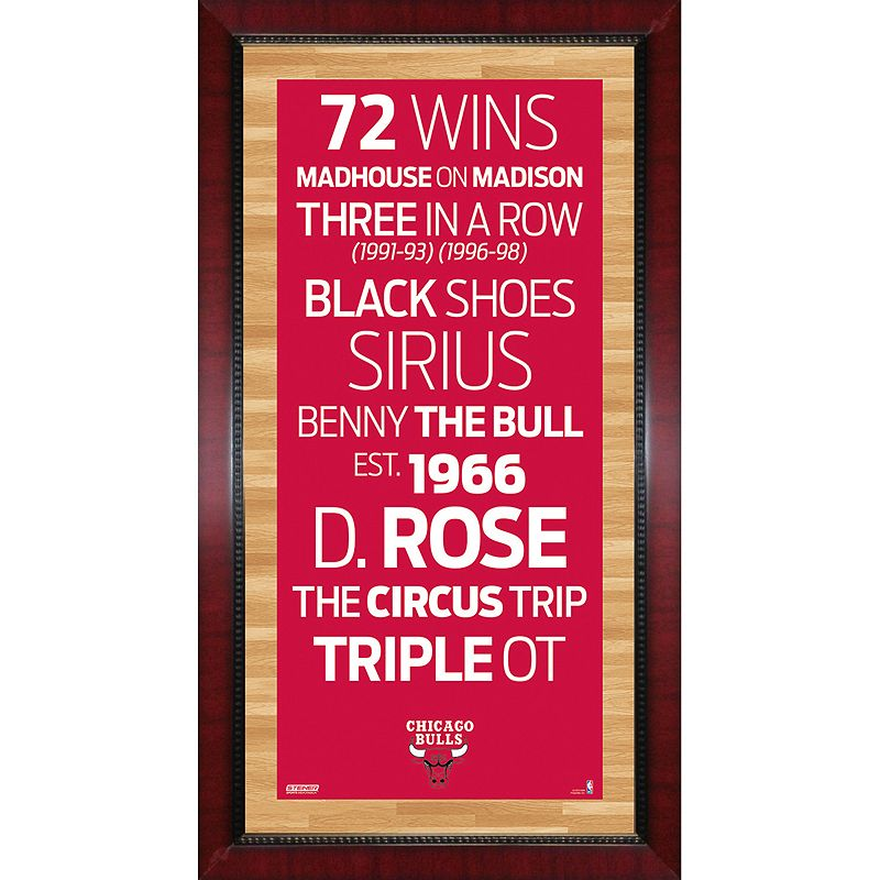 Steiner Sports Chicago Bulls 32'' x 16'' Vintage Subway Sign