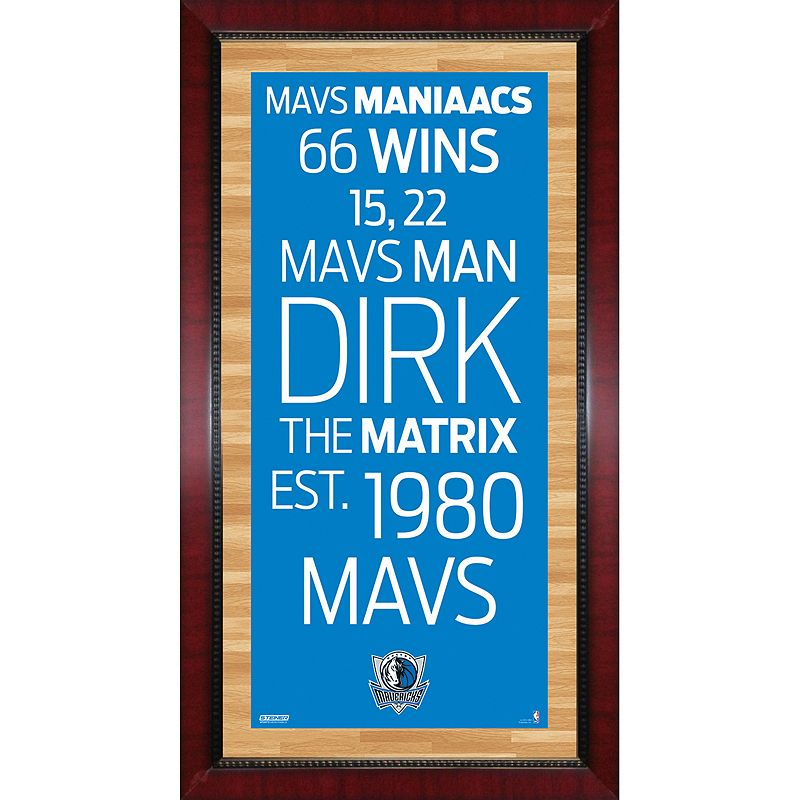 Steiner Sports Dallas Mavericks 32'' x 16'' Vintage Subway Sign