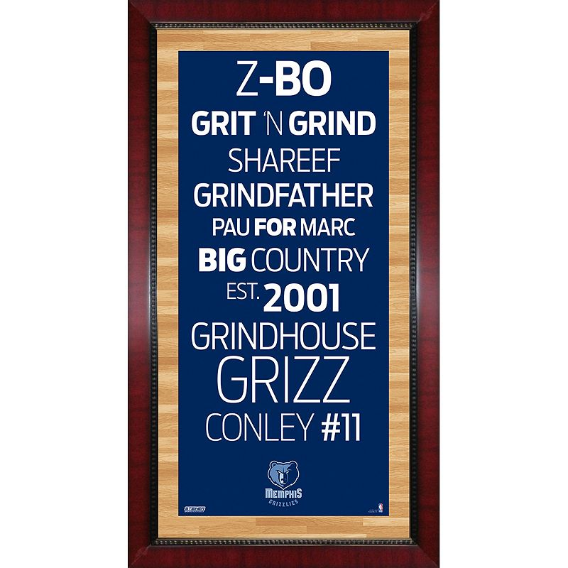 Steiner Sports Memphis Grizzlies 32'' x 16'' Vintage Subway Sign