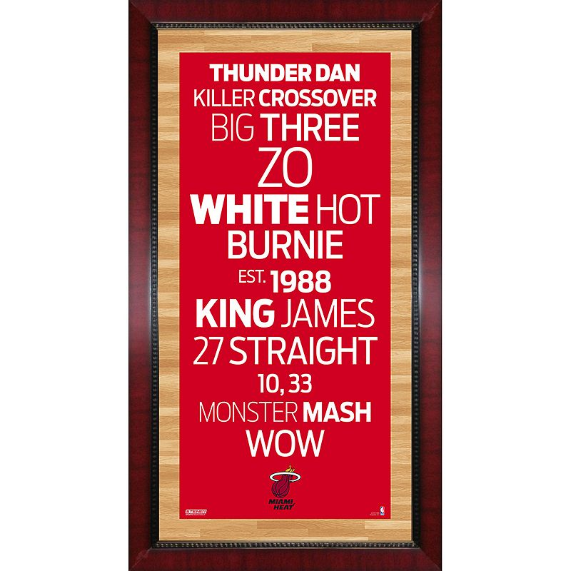 Steiner Sports Miami Heat 32'' x 16'' Vintage Subway Sign