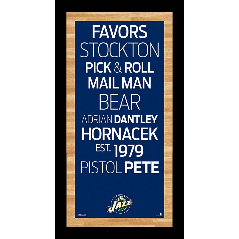Steiner Sports Utah Jazz 19'' x 9.5'' Vintage Subway Sign
