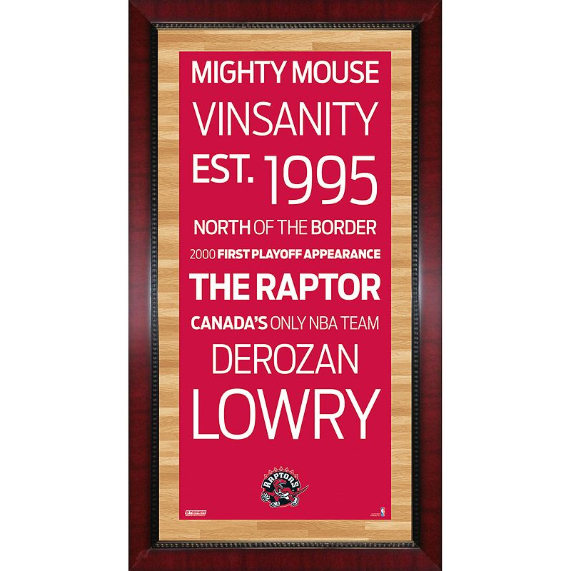 Steiner Sports Toronto Raptors 32'' x 16'' Vintage Subway Sign