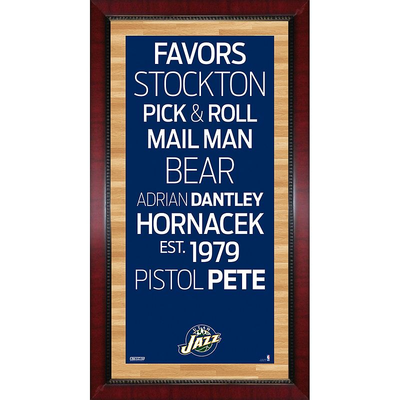Steiner Sports Utah Jazz 32'' x 16'' Vintage Subway Sign