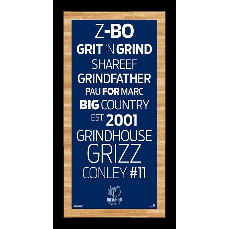 Steiner Sports Memphis Grizzlies 19'' x 9.5'' Vintage Subway Sign