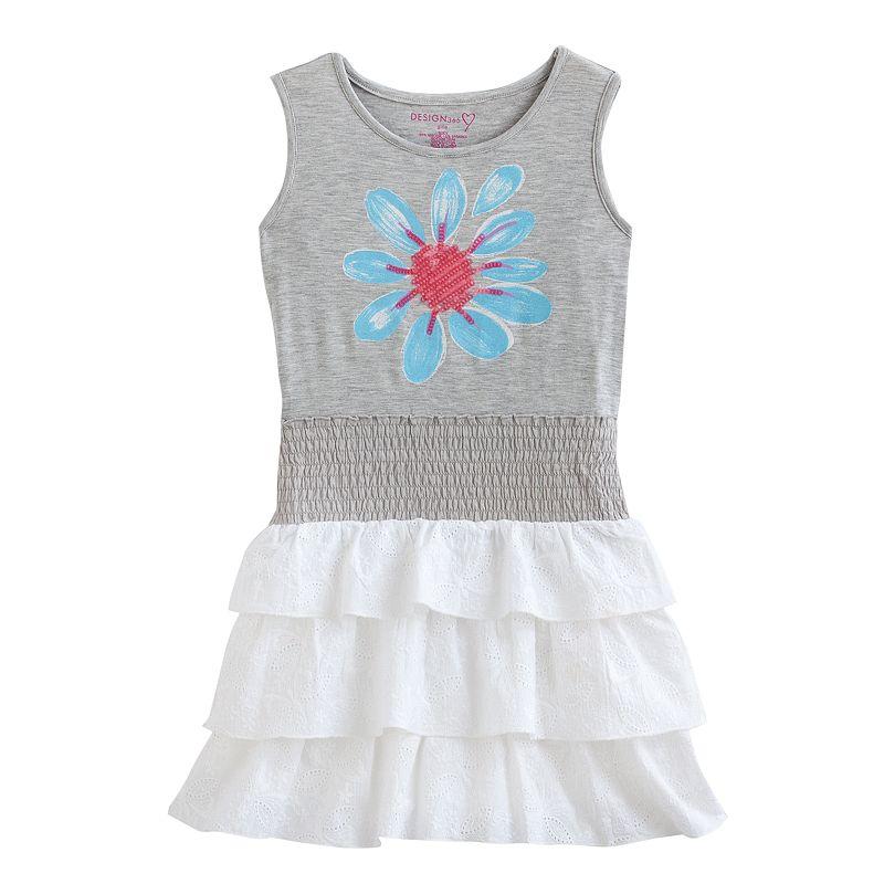 Design 365 Flower Ruffle Dress - Toddler