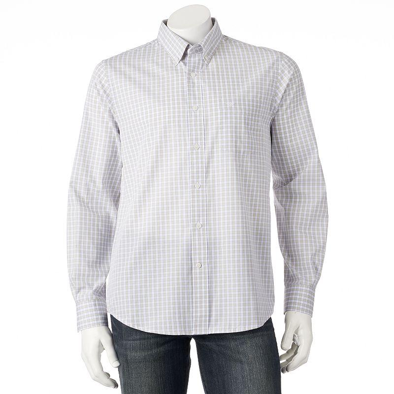 Men's Dockers® Plaid No-Wrinkle Casual Button-Down Shirt