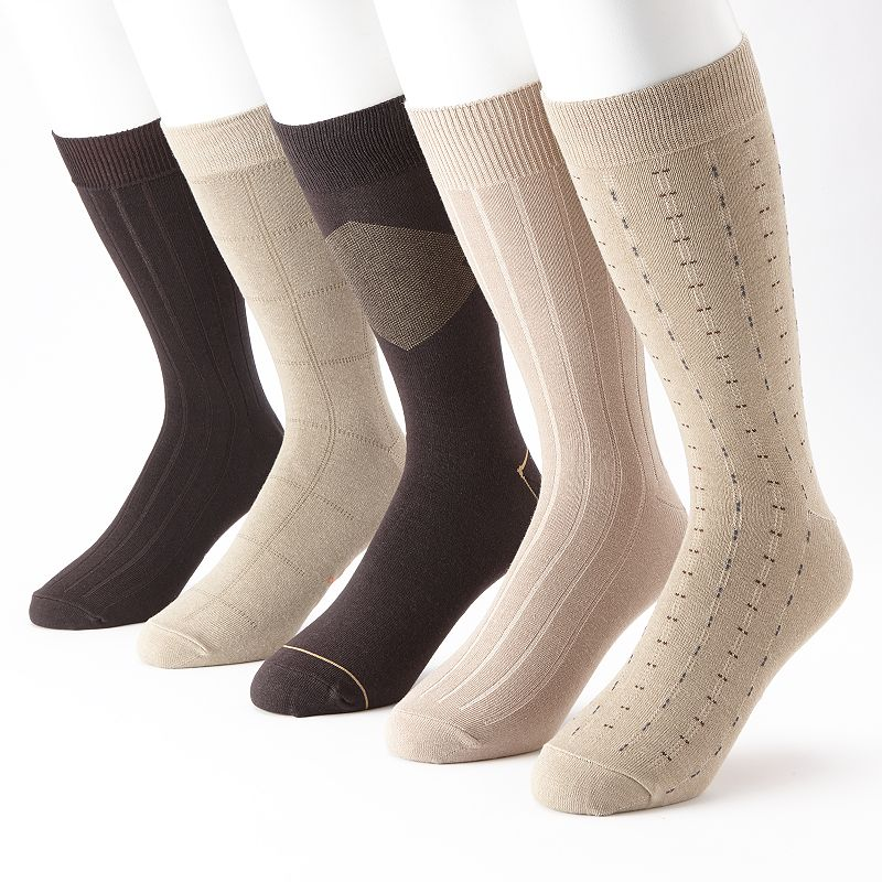 Men's Dockers® 5-pk. Windowpane Casual Crew Socks