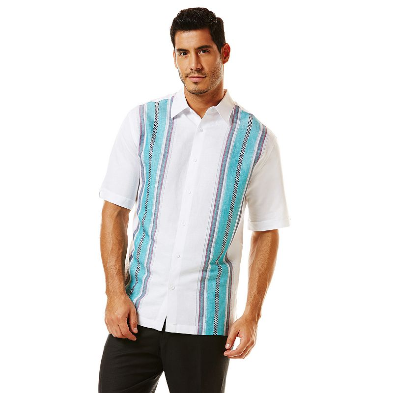 Men's Havanera Paneled Casual Button-Down Shirt