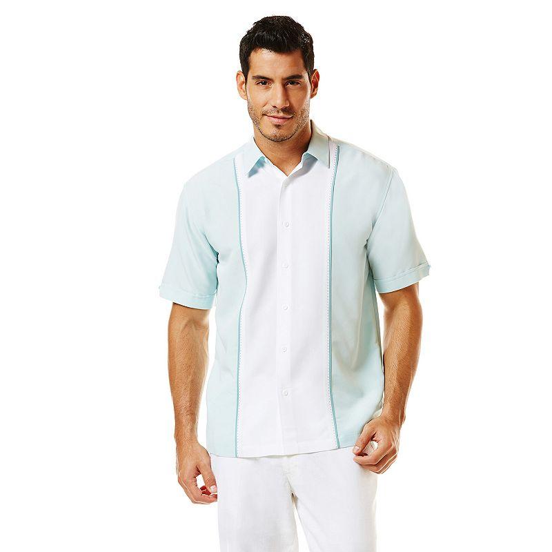 Men's Havanera Colorblock Linen-Blend Casual Button-Down Shirt