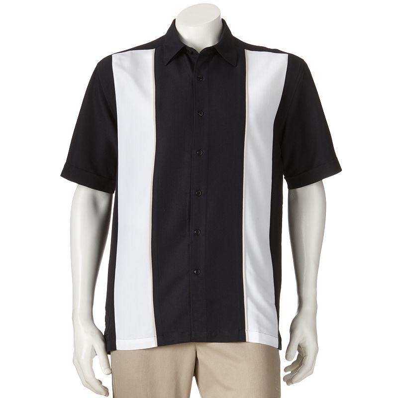 Men's Havanera Paneled Casual Point-Collar Button-Down Shirt