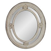Belle Maison Shabby Oval Wall Mirror