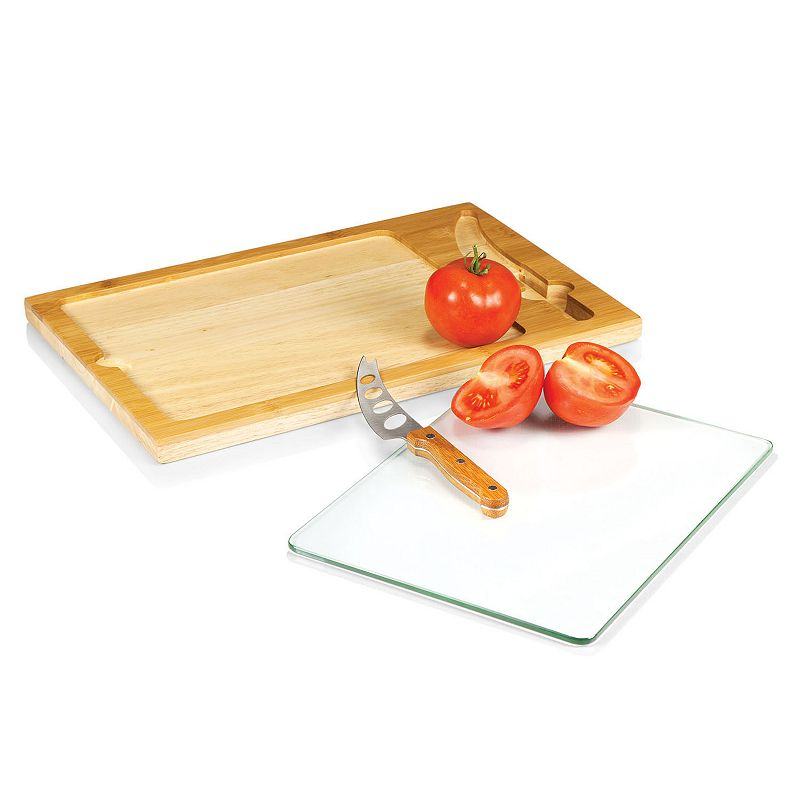 Picnic Time Icon 3-pc. Glass-Top Cutting Board Set