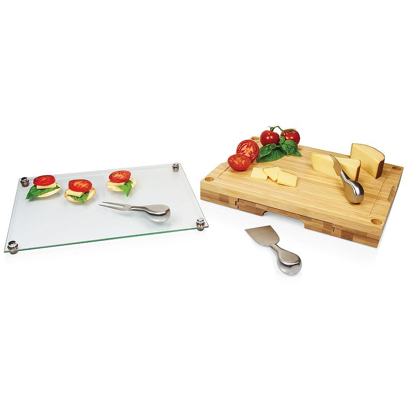 Picnic Time Concerto 5-pc. Glass-Top Cutting Board Set