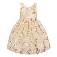 Girls 4-6x American Princess Sequin Soutache Dress