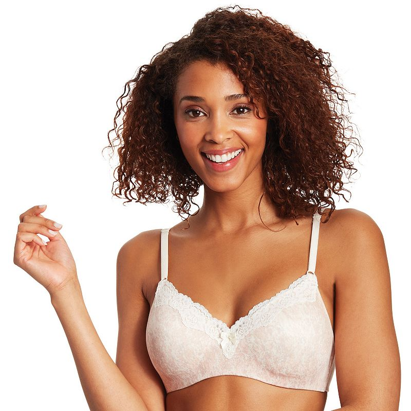 Maidenform Bra: Comfort Devotion Ultimate Lace-Trim Wire-Free with Lift Bra 9456 - Women's