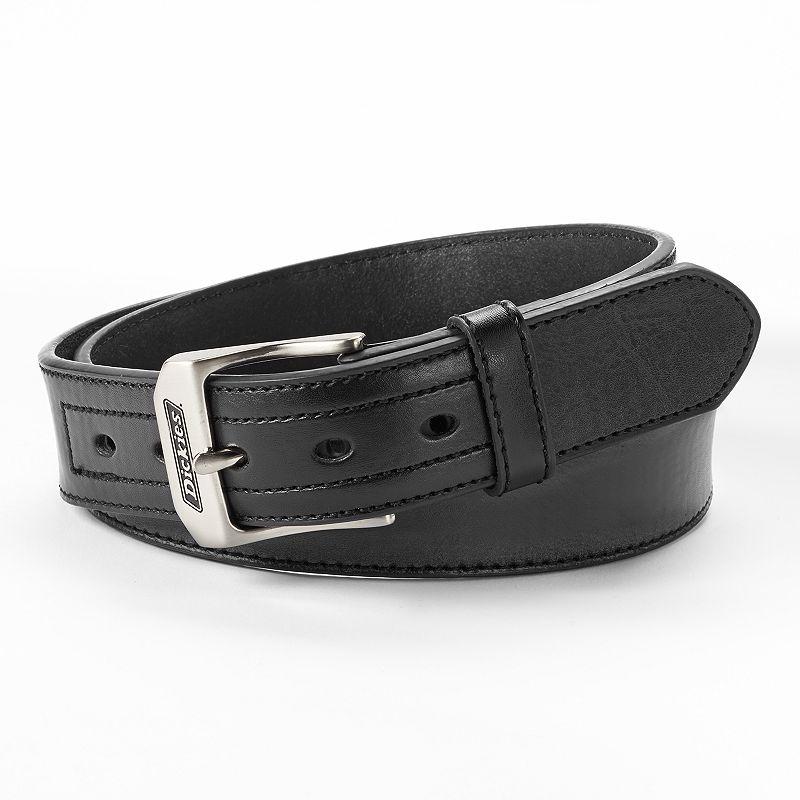 Men's Dickies Black Industrial Strength Leather Work Belt