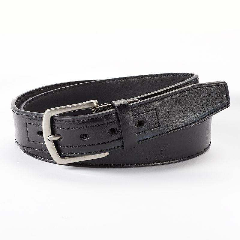 Dickies Industrial Strength Reinforced Textured Harness Plate Leather Work Belt - Men