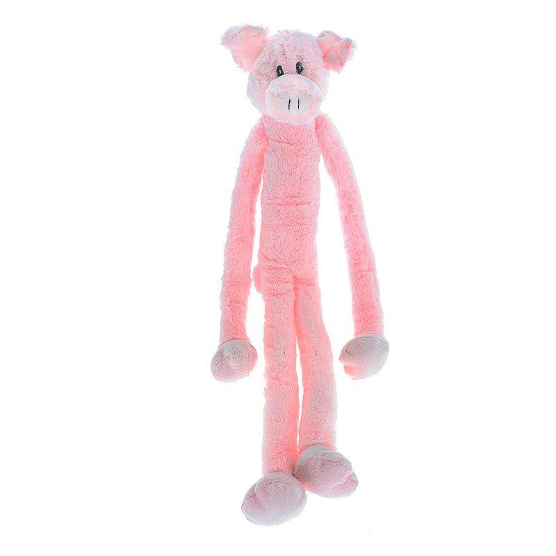 Multipet Swingin' Slevins Pig Plush Dog Toy