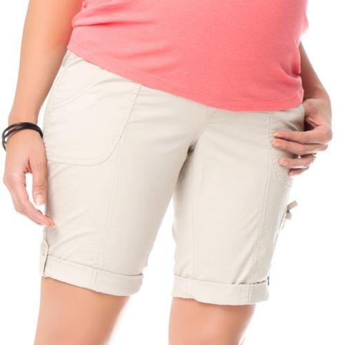 Oh Baby by Motherhood™ Poplin Bermuda Shorts - Maternity