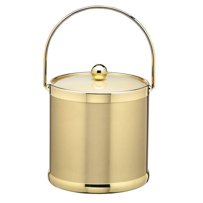 Kraftware Americano 3-qt. Brass Ice Bucket