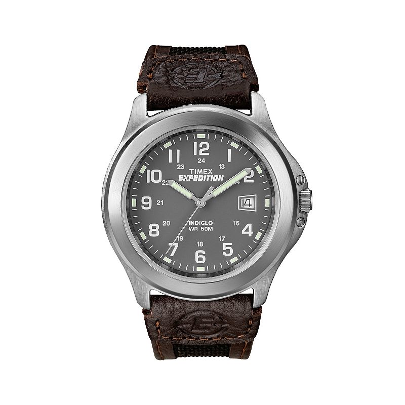 Timex Men's Expedition Leather Watch - T400919J