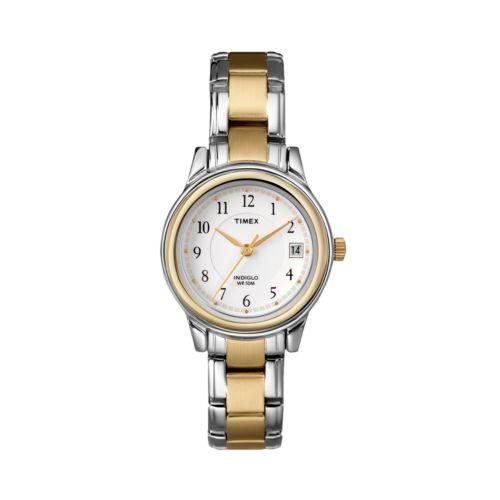 Timex Two Tone Dress Watch - T257719J - Women