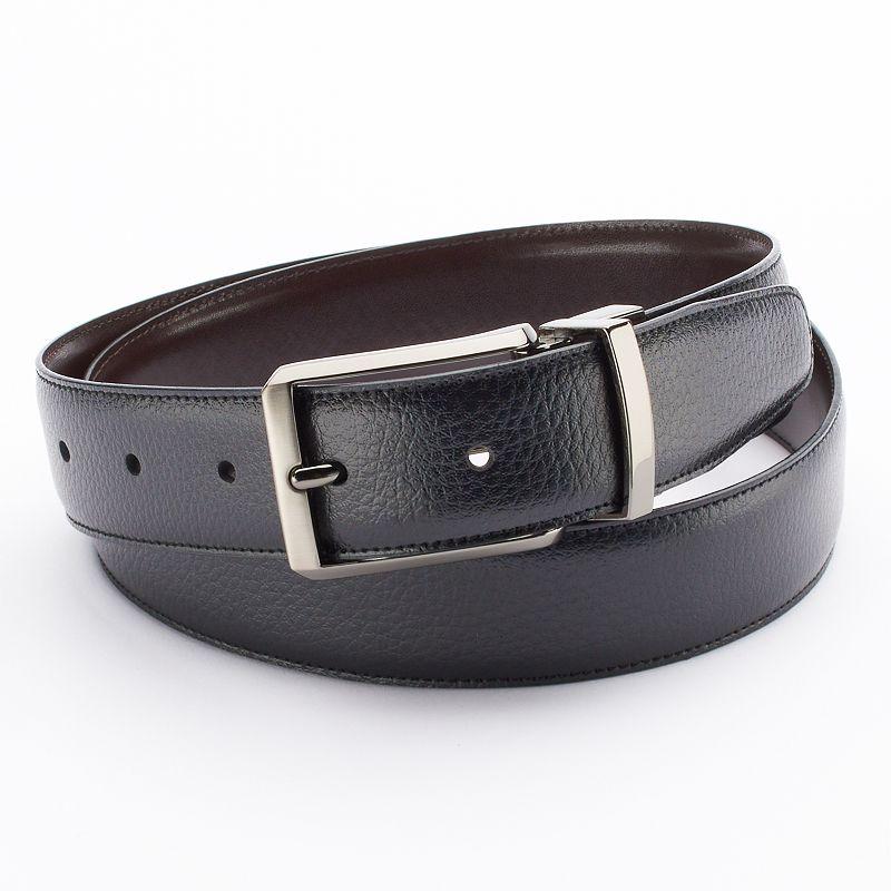 Apt. 9® Pebbled Reversible Faux-Leather Belt - Men