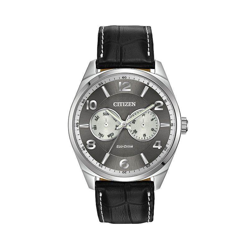 Citizen Men's Eco-Drive Leather Dress Watch - AO9020-17H