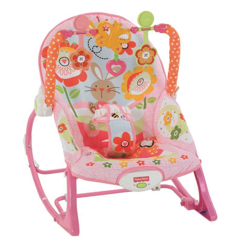 Fisher-Price Bunny Infant-to-Toddler Rocker, Pink thumbnail