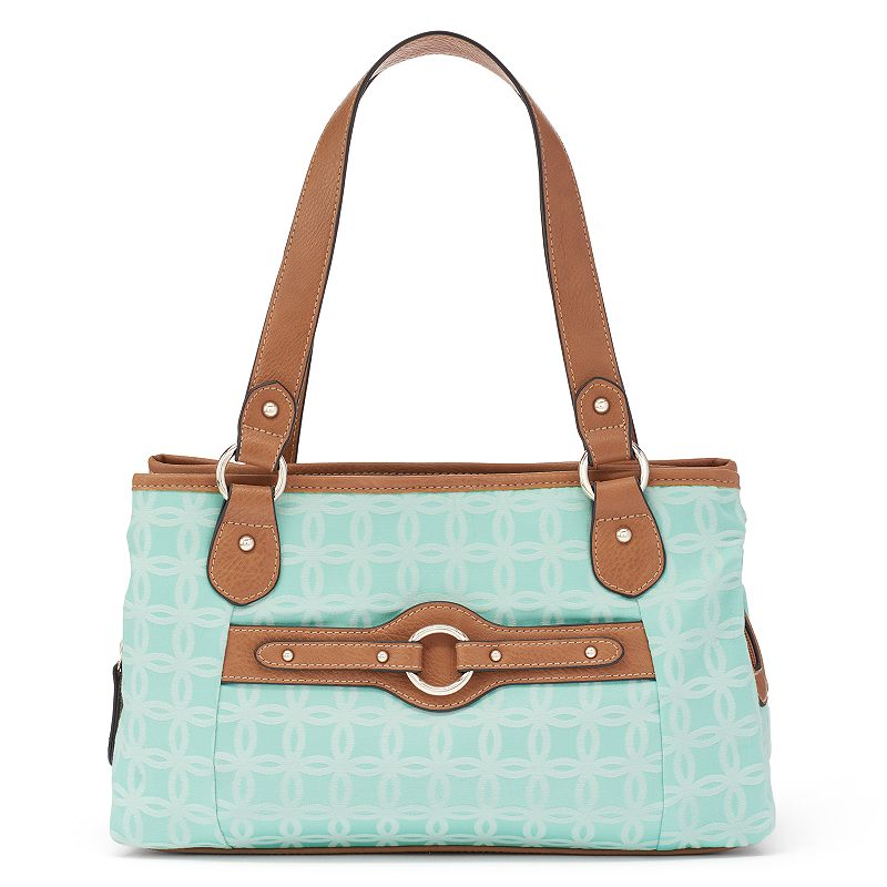 Croft & Barrow® Jacquard Triple Entry Satchel