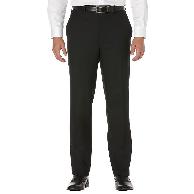 Men's Savane Sharkskin Straight-Fit Flat-Front Dress Pants