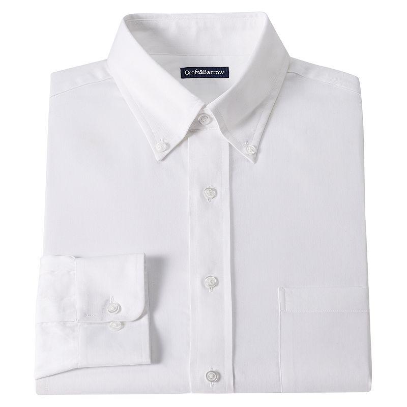 Men's Croft & Barrow® Classic-Fit Solid Twill Dress Shirt