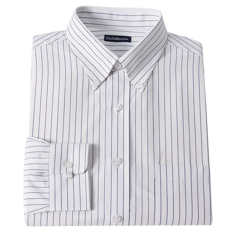 Croft & Barrow® Classic-Fit Striped Dress Shirt - Men